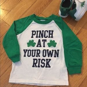 3t st Patrick's day shirt